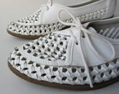 Vintage OPEN WEAVE OXFORD summer shoes 7 7.5