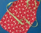 Baby apron - vintage puppies - 12 months