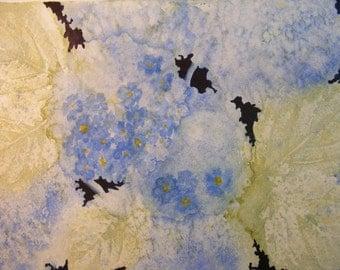 Soft Summer Blues-Original Watercolor of Hydrangeas