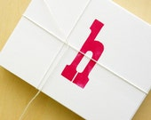 letterpress printed custom stationery (12 pk A2)