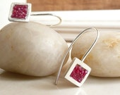 Raspberry Earrings - Sterling Silver and Rubies by Stilosissima California