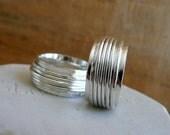 Wedding Bands - Sterling Silver Spinner Rings