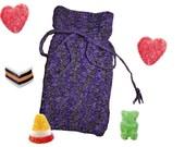 Purple Black Candy Bag Pouch