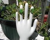 Medium Porcelain Glove Mold  bisque