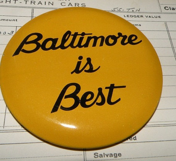 Vintage Baltimore Pinback Button - Maryland Collectible Baltimore Ravens Lover