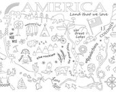 America Embroidery Pattern