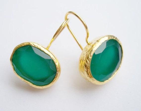 Emerald Silver EARRING