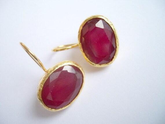SALE SALE SALE-------Ruby Silver earring