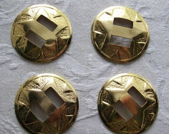 4 Star Design Raised Medallions with Slots
