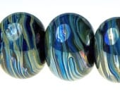 Lampwork Bead Set - 5 Aurora Beads - Handmade by Andrew Sinclair-Day SRA