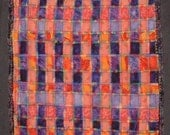 Textile Art 8 x 11 Number 7 of the Rainbow Weavings Series