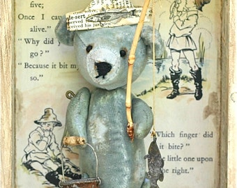 SOLD SOLD  Shadow Box Fisher Bear  SOLD