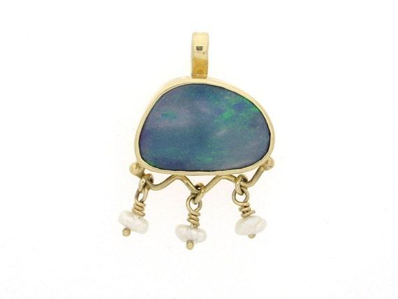 Opal Pendant in 14k Gold