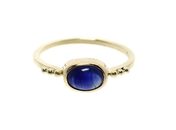 Sapphire Ring in 14k Yellow Gold
