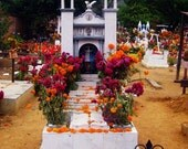 Dia de los Muertos, Day of the Dead in Mexico, Halloween, Autumn home decor, decorated graves, Flowers for the dead