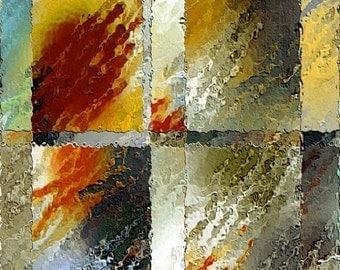 Window Rain (A) (Ready to frame Fine Art Print)