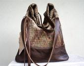 NEW LUELLA//// Southwestern Ikat with Brown Leather Accents