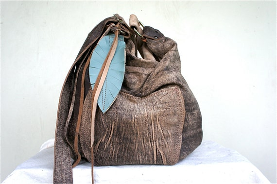 Agatha in a Soft  Faded Bomber Brown Leather with Adjustable Strap