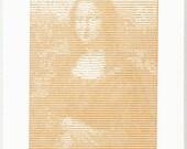 ASCII Mona Lisa Letterpress Print