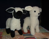 Black Face and White Face Lamb Sheep Stuffed Animal Pattern to SEW!