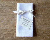 Organic Napkins, Table Linens, Hemp Cotton, White, 4