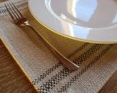 Placemats, Table Linens,  Parisian Stripe in Espresso