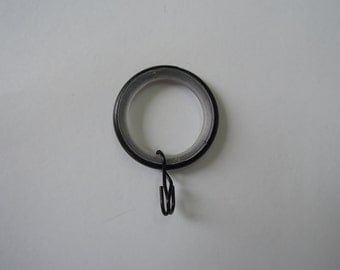 Easy-Glide Black Wrought Iron Rings, Drapery Hardware