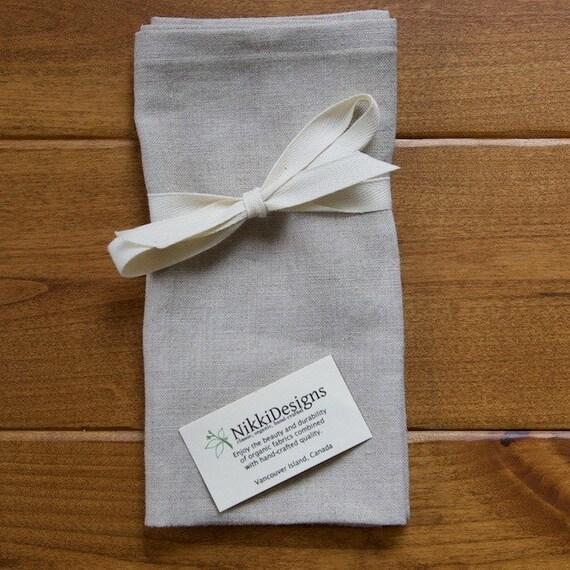 Linen Napkins, Natural, Oatmeal, Flax, Table, Set of 4