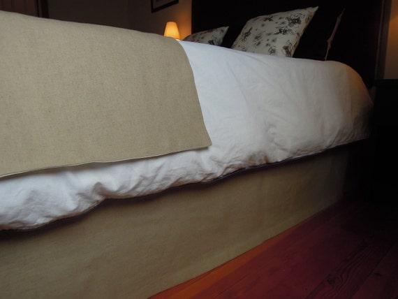 Rustic Organic Bedskirt, Bedding, Queen Hemp/Bamboo