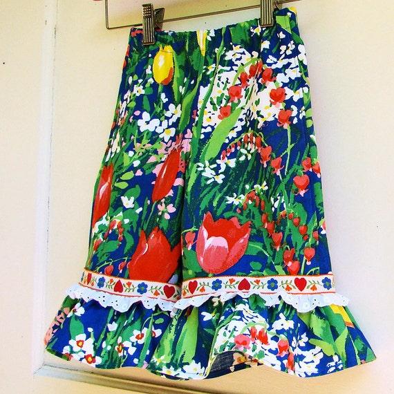 Toddler Ruffle Capri Pants 3T Vintage 90s