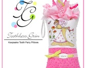 Personalized Tooth Fairy Pillow by Toothless Grin - Miss Emily, Pink