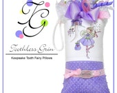 Personalized Tooth Fairy Pillow for Girls by Toothless Grin - Miss Charlotte