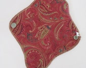 Paisley Reusable Mama Cloth Pad .. THONG Style.. 8 inch FREE Shipping