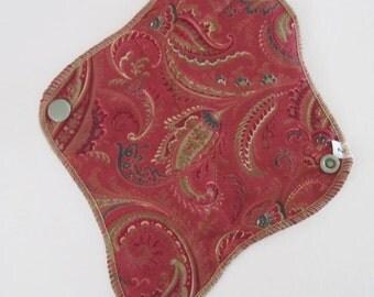 Paisley Reusable Mama Cloth Pad .. THONG Style.. 8 inch FREE Shipping