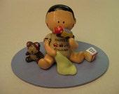 Custom Order - Cute Baby Boy Cake Topper