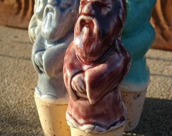 Ceramic Wine Stopper, wise man
