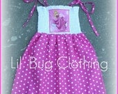 Size 6 ONLY On Sale Now Custom Boutique Princess Sleeping Beauty  Disney Smocked Halter Summer Dress