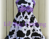 Custom Boutique Clothing Country Purple Bandana Cowgirl Western Jumper Dress Halter Style