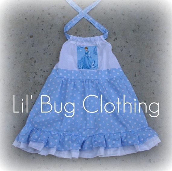Cinderella Couture Baby Girls Pink White Polka Dot Belted: Custom Boutique Clothing Cinderella Princess Baby Blue Polka
