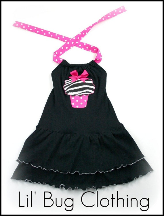 CLEARANCE SALE SIZE 3T ONLY Birthday comfy cupcake knit black dress