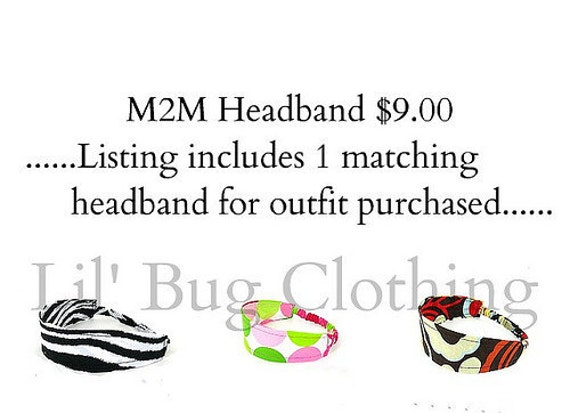 M2M Custom Boutique Childrens Headband