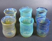6 Handblown Glass Vessels for Candlemakers