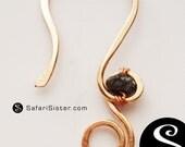 Natural Rough Black Diamond Earrings, Earwires, Jewelry Findings, Supplies