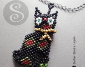 Mayan Tribe Artisan Peyote Beaded Cat Jewelry Findings