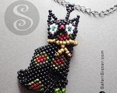 Mayan Tribe Artisan Peyote Beaded Cat Jewelry Findings