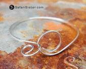 Spirals II Bangle Bracelet, Bangle, Findings, Jewelry Findings, Supplies