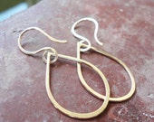 14KT Gold Fill Teardrop and Hook, Earrings, Jewelry Findings, Supplies