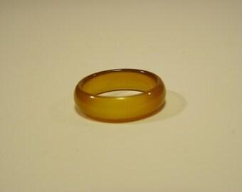 Honey Quartz Ring - 3 Sizes - 7 1/2,  7 3/4 or 10 1/4  --   Your Choice of one