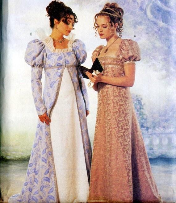 Regency or Napoleanic Era  Costume Pattern- Jane Austen Era- Size 6-10- Butterick 6630