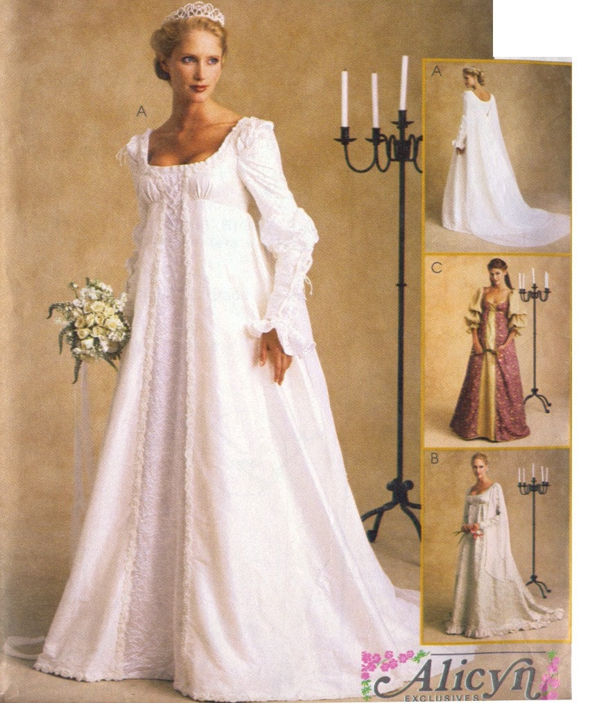 Ever after renaissance bridal wedding gown or costume pattern for Ever after wedding dress
